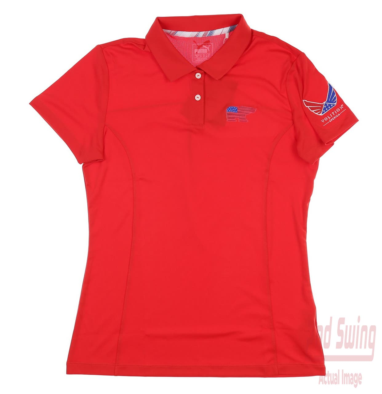 New W/ Logo Womens Puma Volition Polo Small S Red MSRP $55 575148 02