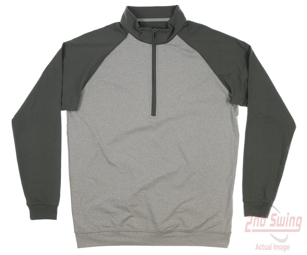 New Mens Straight Down 1/4 Zip Golf Pullover Medium M Olive MSRP $98 60475