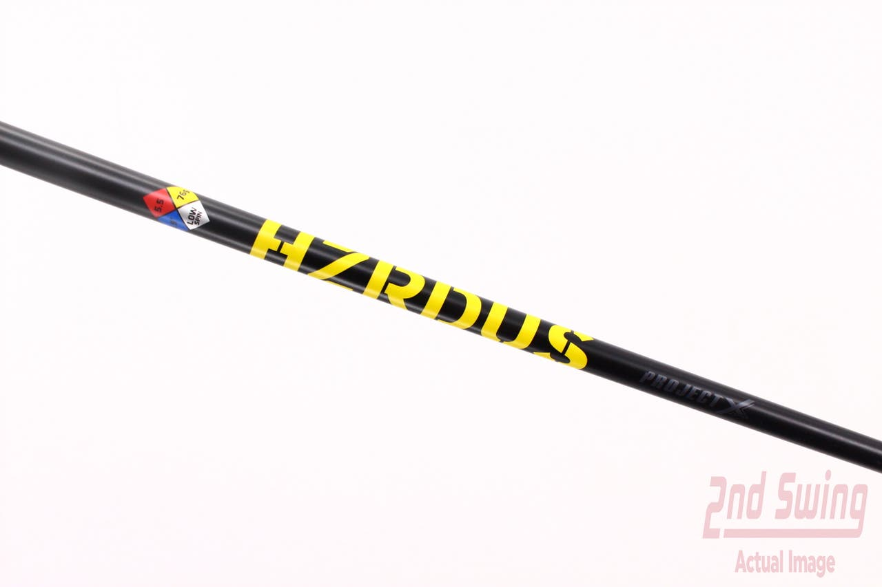 Used W/ Adapter Project X HZRDUS Yellow 75 Driver Shaft 5.5 Regular 44