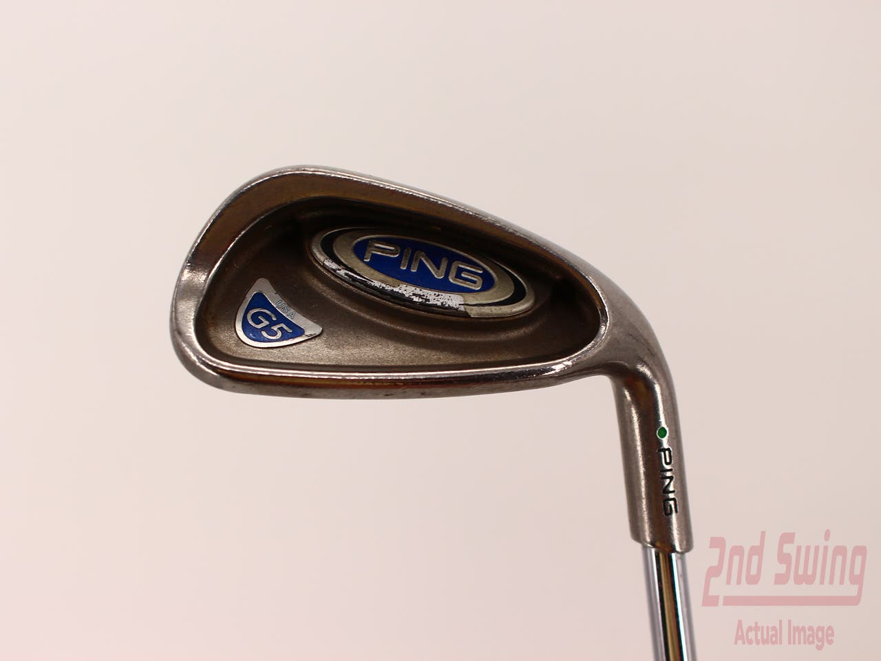 Ping G5 Single Iron 9 Iron Stock Steel Shaft Steel Stiff Right Handed Green Dot 36.25in