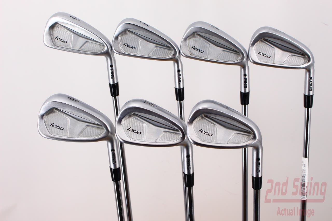 Ping i200 Iron Set 4-PW True Temper XP 95 Stepless Steel Stiff Right Handed Black Dot 36.75in