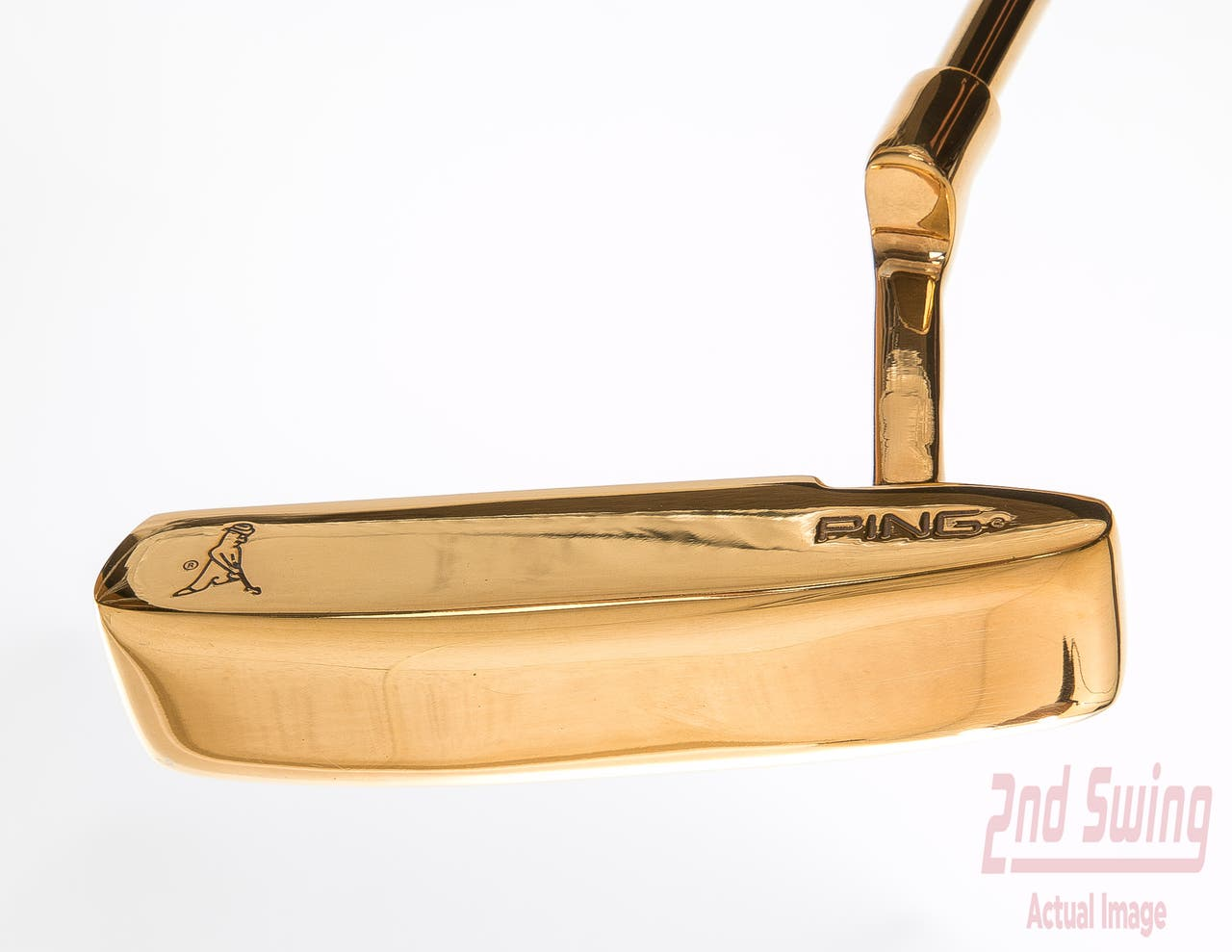 Ping Anser 2 Gold Plated Putter Right Handed 35 in - Rare Collector