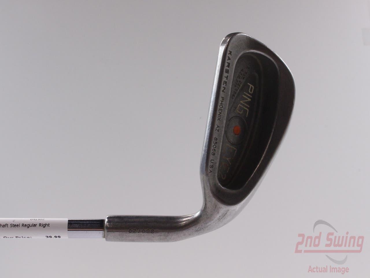 Ping Eye 2 Single Iron 8 Iron Stock Steel Shaft Steel Regular Right Handed Orange Dot 36.5 in